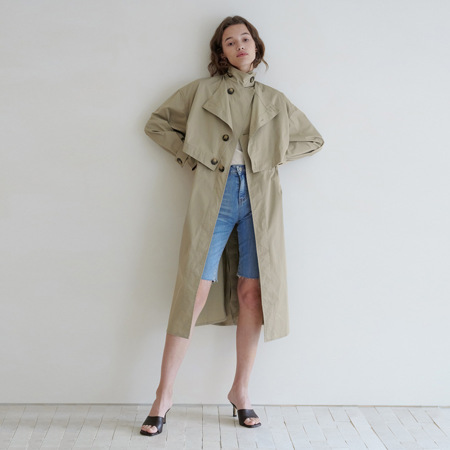 Alamo string trench coat