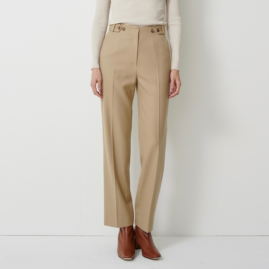 Bella button wool trouser