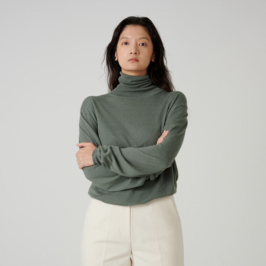Soft touch polar neck knit