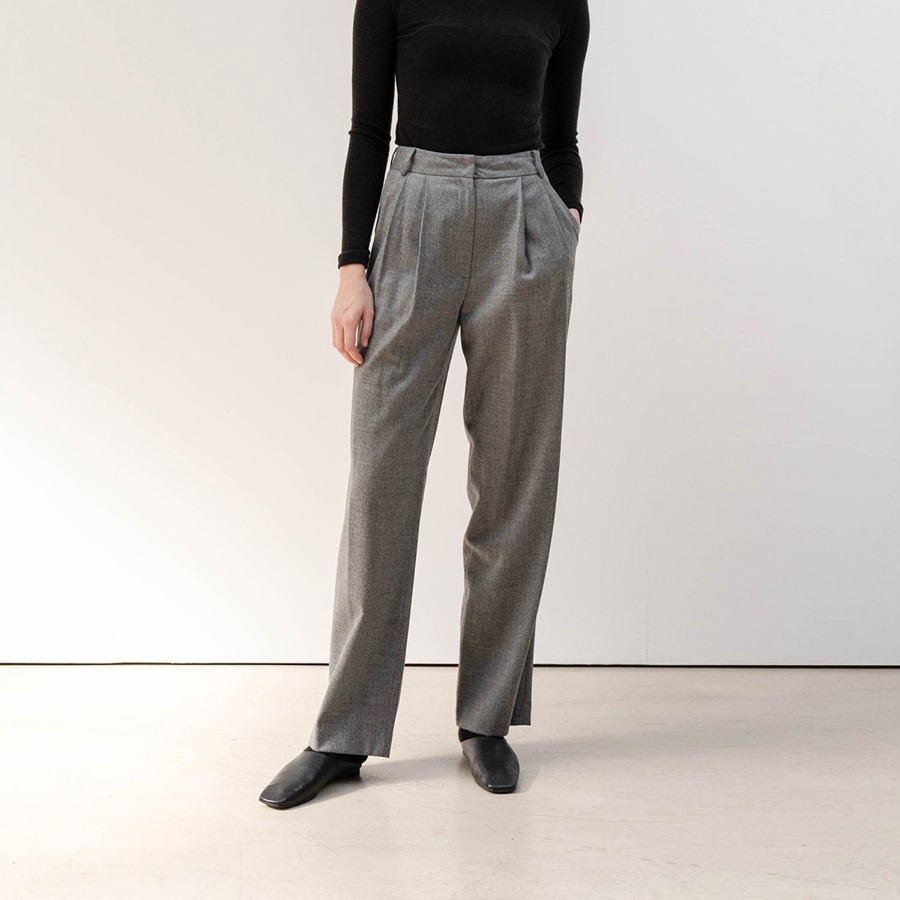 LUX WOOL WIDE TROUSER