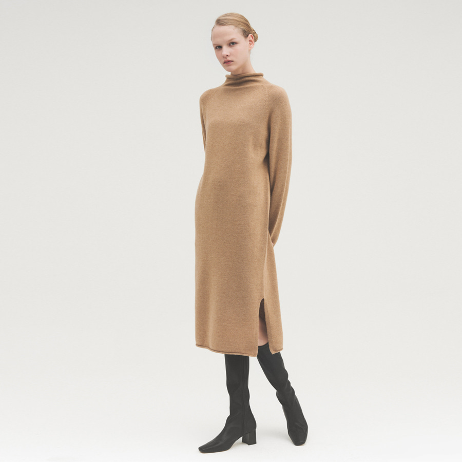 FB HALF NECK KNIT DRESS