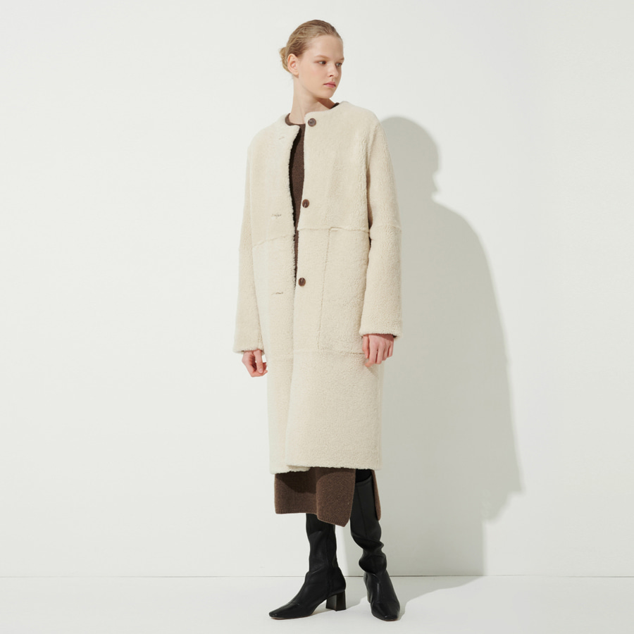 Melrose reversible shearling coat