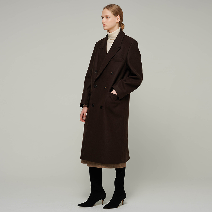 Floriana wool double coat