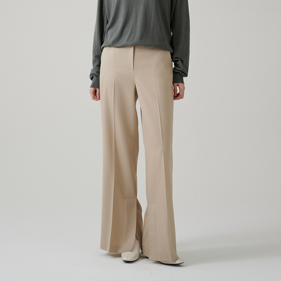 Kylie wool slit trousers
