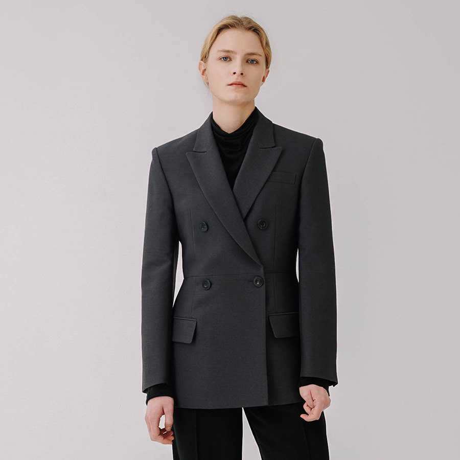 Desire double wool silk blazer