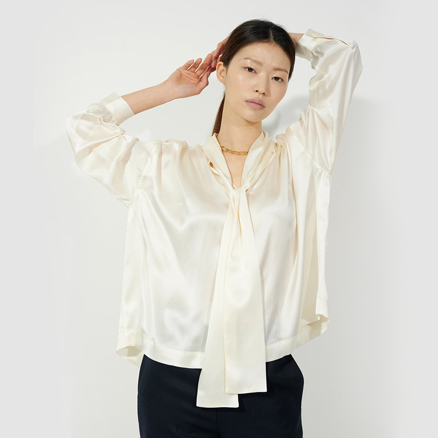 ZES silk tied blouse