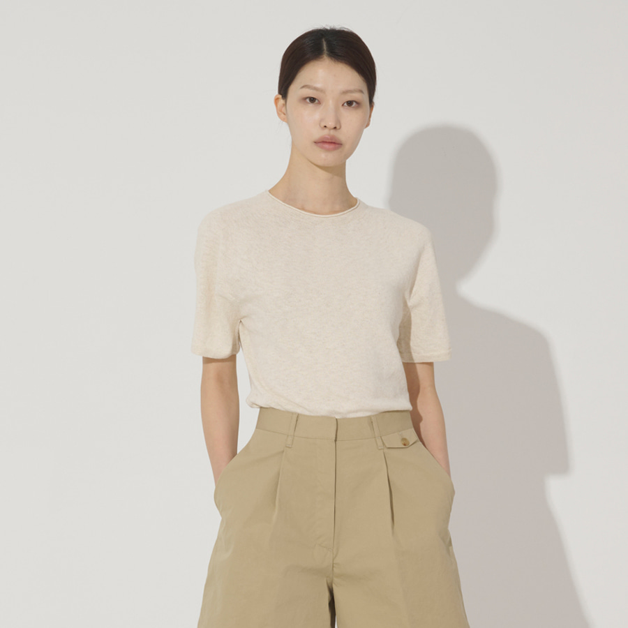 Atlas linen round knit