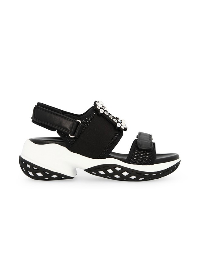 VIV RUN STRASS BUCKLE SANDAL