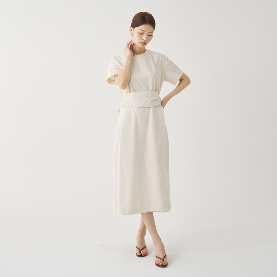 Edge shirring dress