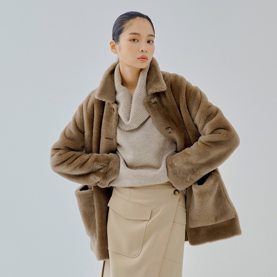 ELODE shearling jacket