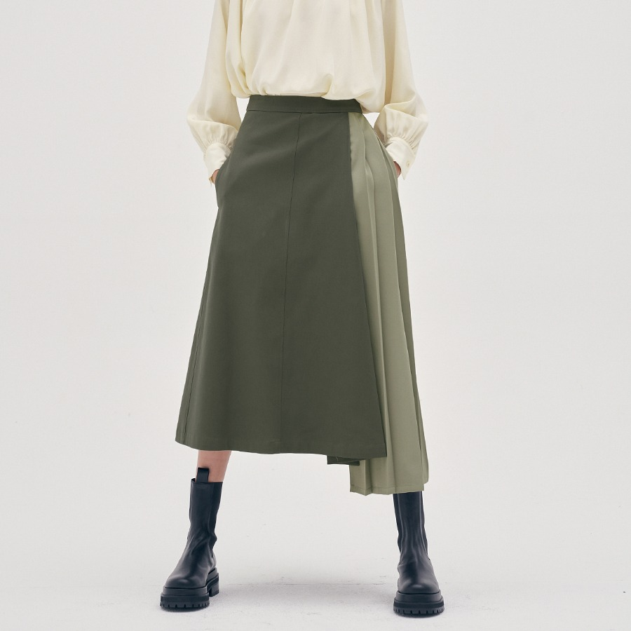 Pierre pleated skirt