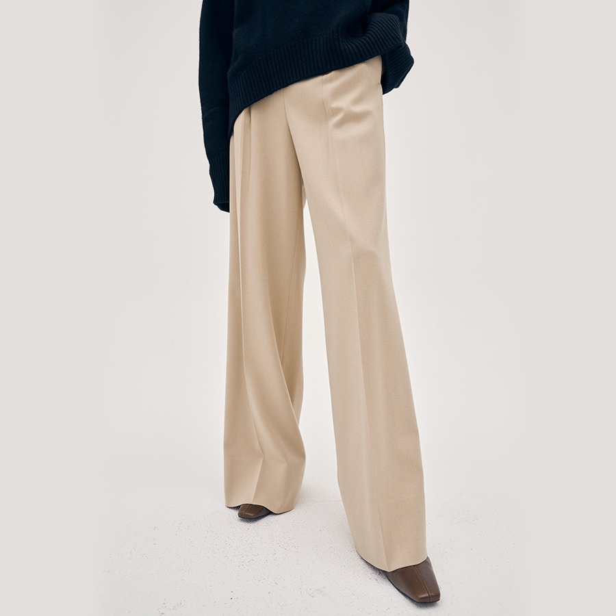 Slate tuck trousers